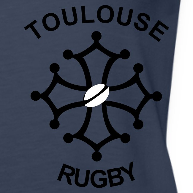 Débardeur femme rouge Toulouse Rugby