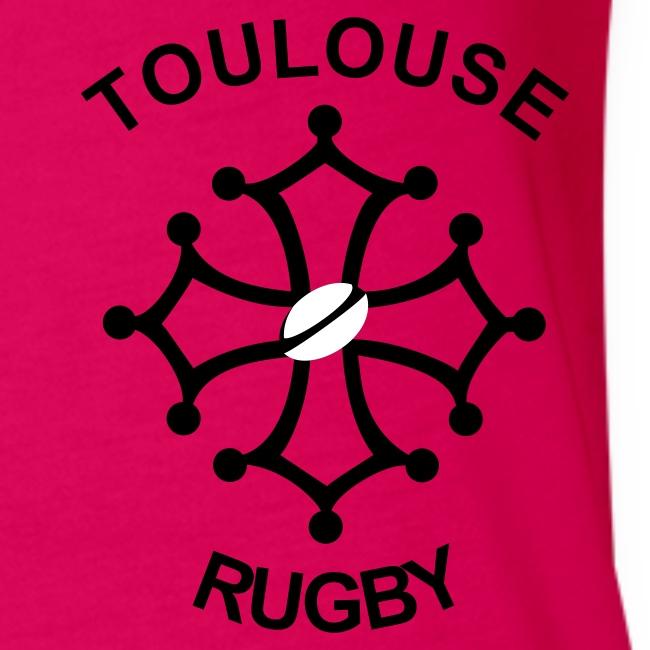 Débardeur femme rouge Toulouse Rugby