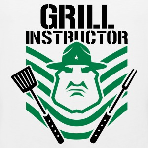 Weiß ::GRILL INSTRUCTOR B:: T-Shirts - Männer Premium Tank Top