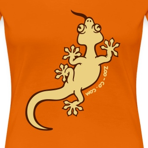 Orange Gecko Women's Tees - Women's Premium T-Shirt