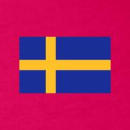 Motiv ~ Schulterfreies Schweden-Top mit schwedischer Fahne