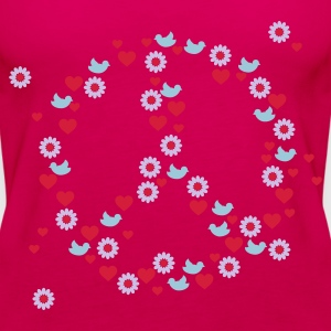 Roze love 'n peace (3c) Tops - Vrouwen Premium tank top