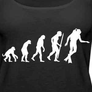 Black Evolution of Scuba diving Tops - Women's Premium Tank Top
