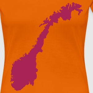 Orange Norwegen T-Shirts - Frauen Premium T-Shirt