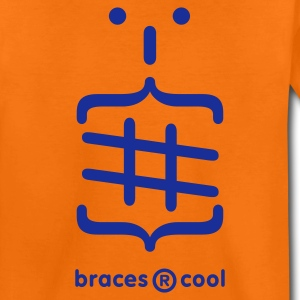 Orange Braces are cool Emoticon Kid's Shirts  - Teenage Premium T-Shirt
