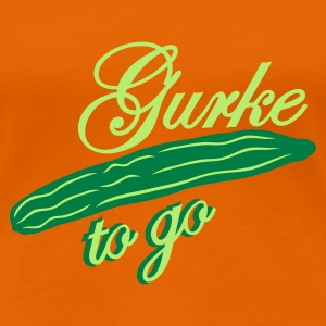 Orange gurke 2 go  T-Shirts - Frauen Premium T-Shirt