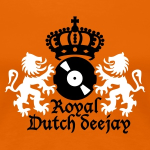 Oranje Royal Dutch deejay T-shirts - Vrouwen Premium T-shirt
