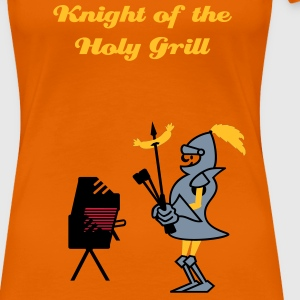 Orange Grill Ritter / grill knight (3c) T-shirts - Dame premium T-shirt