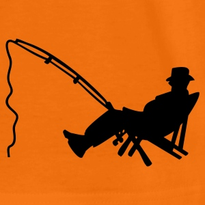 Orange Angler am Strand / fisher in deckchair (1c) Kid's Shirts  - Teenage Premium T-Shirt