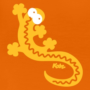 Orange Gecko  T-Shirts - Frauen Premium T-Shirt