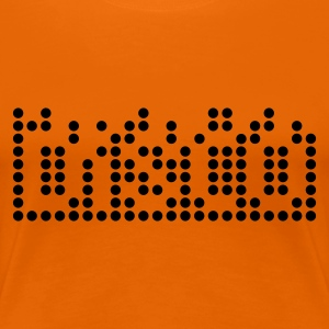 Orange disco 1c equalizer DE T-Shirts - Frauen Premium T-Shirt