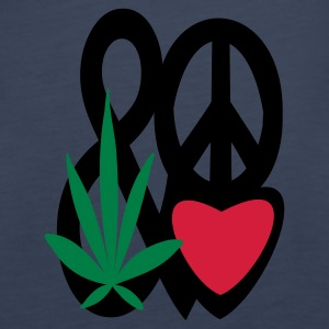 spaghetti top love peace and cannabis - Frauen Premium Tank Top
