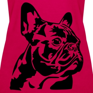 Pink French Bulldog Tops - Frauen Premium Tank Top