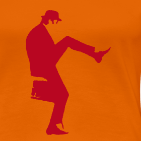 Design ~ John Cleese Neon Orange Silly Walk Women's Shirt
