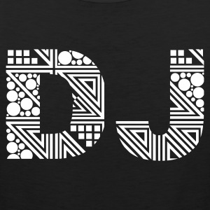 Black DJ Men's T-Shirts - Men's Premium Tank Top