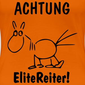 Orange EliteReiter! Pferd T-Shirts - Frauen Premium T-Shirt