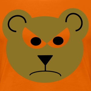 Orange Teddy (böse) T-Shirts - Frauen Premium T-Shirt