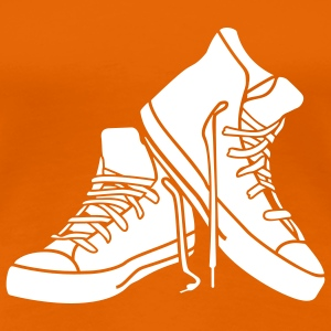 Orange chaussures cool T-shirts - T-shirt Premium Femme