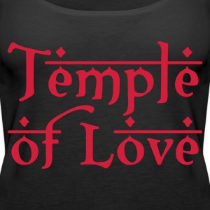 Schwarz TEMPLE OF LOVE Tops - Frauen Premium Tank Top