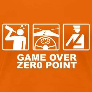Orange Game over - zero point T-shirts - T-shirt Premium Femme