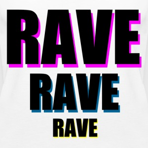 Wit Rave x 3 Tops - Vrouwen Premium tank top
