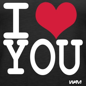 Schwarz i love you by wam Tops - Frauen Premium Tank Top