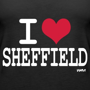 Black i love sheffield by wam Tops - Women's Premium Tank Top