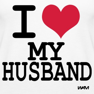 Wit i love my husband by wam Tops - Vrouwen Premium tank top