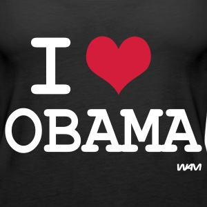 Schwarz i love obama by wam Tops - Frauen Premium Tank Top