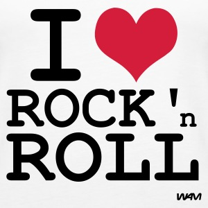 Bianco i love rock and roll by wam Top - Canotta premium da donna