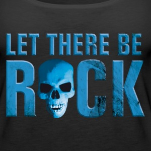 let_there_be_rock_skull_blue Tops - Women's Premium Tank Top