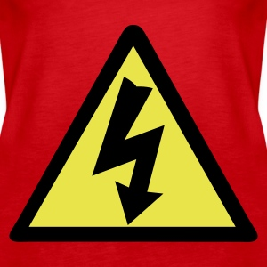 Red Electricity Warning Tops - Women's Premium Tank Top