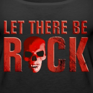 let_there_be_rock_skull_red Tops - Women's Premium Tank Top