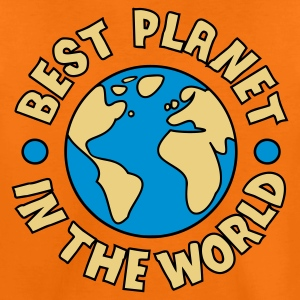 Orange Best Planet Kids' Shirts - Teenage Premium T-Shirt