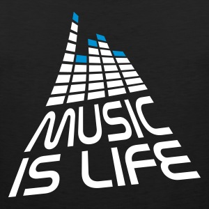 Nero music is life 3d I IT T-shirt - Canotta premium da uomo