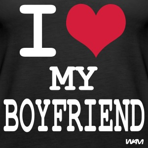 Schwarz i love my boyfriend by wam Tops - Frauen Premium Tank Top