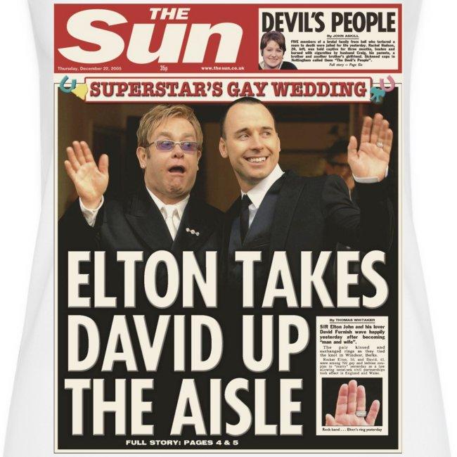 Elton Takes David Up The Aisle