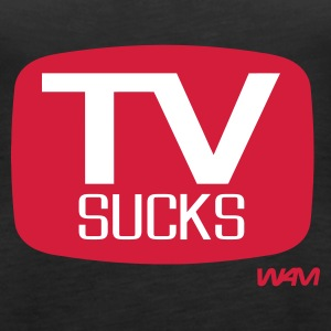 Schwarz tv sucks by wam Tops - Frauen Premium Tank Top