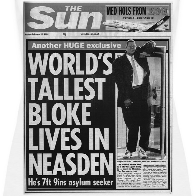 World's Tallest Bloke Lives in Neasden
