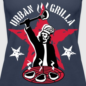 Urban Grilla, barbecue chef / cook - Women's Premium Tank Top