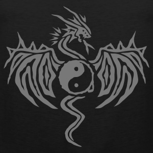 Black Yin Yang Dragon Men's T-Shirts - Men's Premium Tank Top