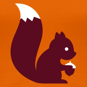 Orange squirrel eichhörnchen Women's T-Shirts - Women's Premium T-Shirt