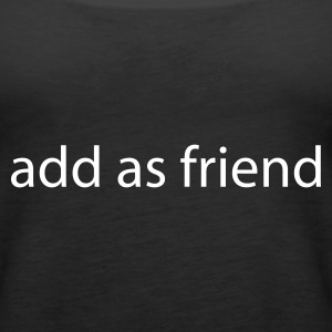 Svart add as friend Topper - Premium singlet for kvinner