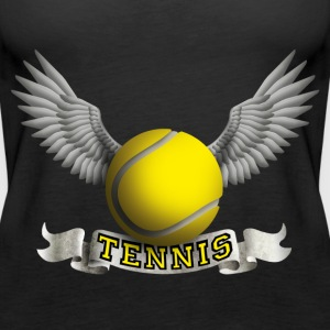 tennis_wings_a Tops - Women's Premium Tank Top