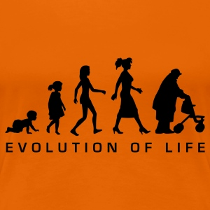 Orange evolution_life_woman_b T-Shirts - Frauen Premium T-Shirt