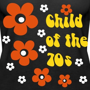 Schwarz Child of the 70s Tops - Frauen Premium Tank Top