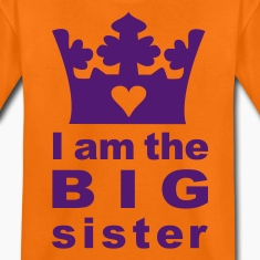 Orange I am the Big Sister Kinder T-Shirts