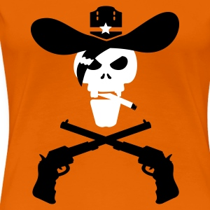 Orange dead sheriff (2c) T-Shirts - Frauen Premium T-Shirt