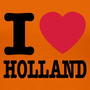 Orange i love holland EN Women's T-Shirts - Women's Premium T-Shirt