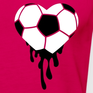 Pink bleeding heart for football Tops - Women's Premium Tank Top